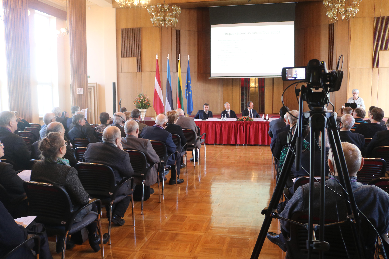 Konferences 1. daļā piedalījās Baltijas valstu tieslietu ministri un EP deputāte